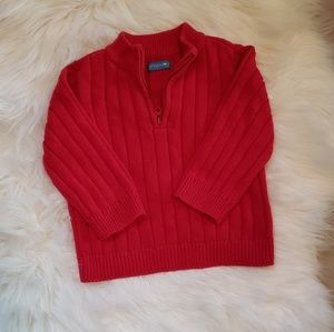 Boys red dress pullover sweater